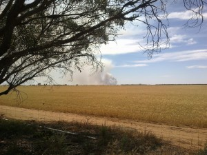 Fire north of Avon