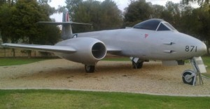 Antique RAAF jet fighter